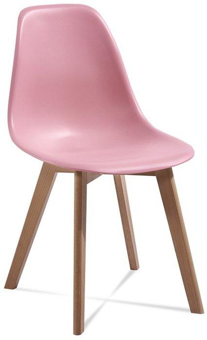 Stylová růžová retro židle. Zdroj: eranabytek.cz